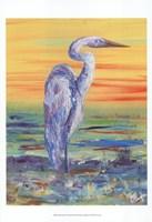 Egret Sunset I Fine-Art Print