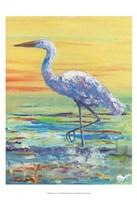 Egret Sunset II Fine-Art Print
