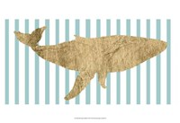Pin Stripe Whale I Fine-Art Print