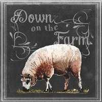 Chalkboard Farm Animals IV Fine-Art Print