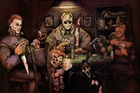 Slashers Playing Poker Fine-Art Print
