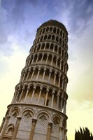 Close Up of Leaning Tower of Pisa Fine-Art Print
