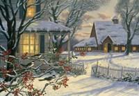 Winter Chickadees Fine-Art Print