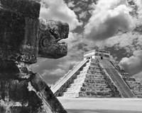 The Serpent And The Pyramid, Chechinitza, Mexico 02 Fine-Art Print