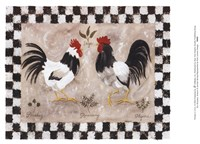Two Roosters Fine-Art Print