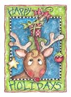 Happy Holidays Reindeer Fine-Art Print