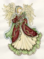Angel With Roses Fine-Art Print