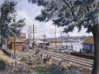 Steam Along Hudson Fine-Art Print