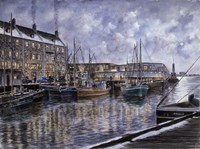 Boston,  The Commercial Wharf Fine-Art Print