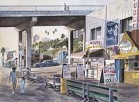 Santa Monica,  Prominade At Sunset Fine-Art Print