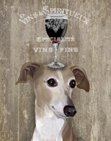 Dog Au Vin Greyhound Fine-Art Print