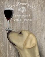 Dog Au Vin Yellow Labrador Fine-Art Print