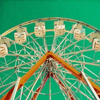 Green Ferris Wheel Fine-Art Print