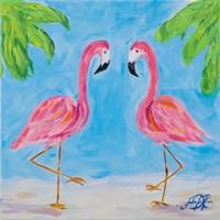 Fancy Flamingos III Fine-Art Print