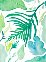 Green Water Leaves I Fine-Art Print