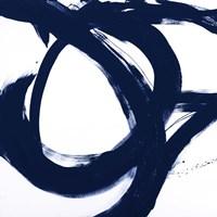 Navy Circular Strokes I Fine-Art Print