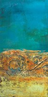 Rustic Frieze on Teal II Fine-Art Print