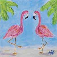 Fancy Flamingos III Fine-Art Print