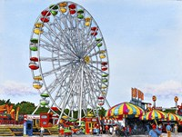 Ferris Wheel Erie County Fair, Hamburg Ny Fine-Art Print