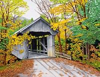 Vermont Bridge In Fall Fine-Art Print