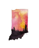Indiana State Watercolor Fine-Art Print