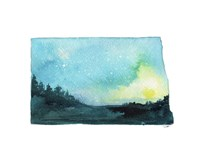 North Dakota State Watercolor Fine-Art Print