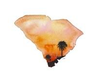 South Carolina State Watercolor Fine-Art Print