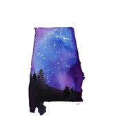 Alabama State Watercolor Fine-Art Print