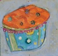 Cupcake I  (orange icing) Fine-Art Print