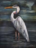 Blue Heron at Dusk Fine-Art Print