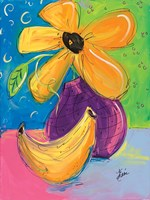 Yellow Flower and Banana Fine-Art Print