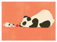 The Pug and The Panda Fine-Art Print