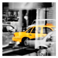 Yellow Taxi Reflection Fine-Art Print
