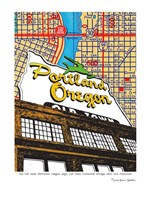 Oregon Map Sign Old Town Portland Fine-Art Print