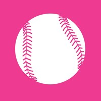 White Softball on Pink Fine-Art Print