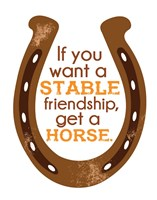 Horseshoe Quote 1 Fine-Art Print