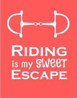 Riding is My Sweet Escape - Orange Fine-Art Print