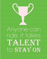 Anyone Can Ride - Green Fine-Art Print