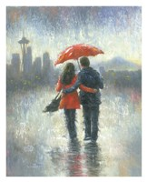 Seattle Lovers in the Rain Fine-Art Print