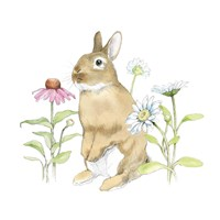 Wildflower Bunnies IV Fine-Art Print