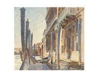 Gondola Moorings on the Grand Canal, 1904/07 Fine-Art Print
