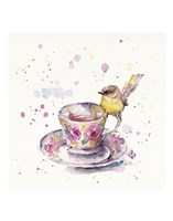 Tea Time (Eastern Yellow Robin) Fine-Art Print