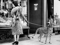 Elegant Woman with Cheetah Fine-Art Print