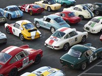 Vintage sport cars at Grand Prix, Nurburgring Fine-Art Print