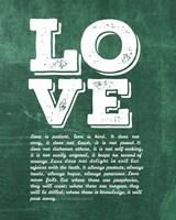 Corinthians 13:4-8 Love is Patient - Green Fine-Art Print