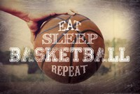 Eat, Sleep, Basketball, Repeat Fine-Art Print