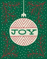 Jolly Holiday Ornaments Joy Fine-Art Print
