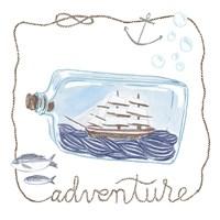 Ship in a Bottle Adventure Fine-Art Print