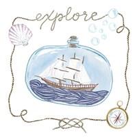 Ship in a Bottle Explore Fine-Art Print
