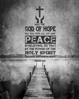 Romans 15:13 Abound in Hope (Black & White) Fine-Art Print